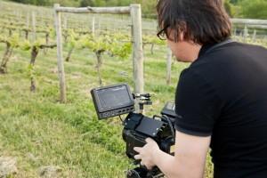 Videographers shooting on a Red One MX camera