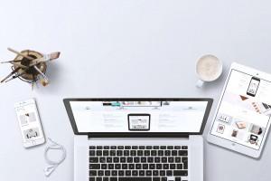 A professional laptop on a desk.